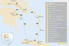 Map thumbnail of Greek Panorama: Athens, Mainland Greece, Cyclades, and Crete - 23 Days