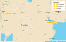 Map thumbnail of Argentina Food & Wine - 10 Days