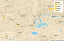 Map thumbnail of Discover Tibet's Cities - 7 Days