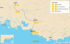 Map thumbnail of France Road Trip: Ultimate Self-Drive Tour of Provence - 10 Days