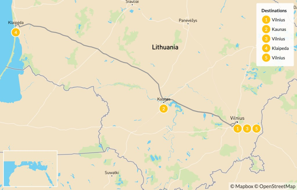 Map of Best of Lithuania - 5 Days