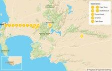 Map thumbnail of Cape Town Active Adventure - 15 Days