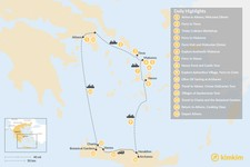 Map thumbnail of Cyclades & Crete Culinary History Tour - 15 Days