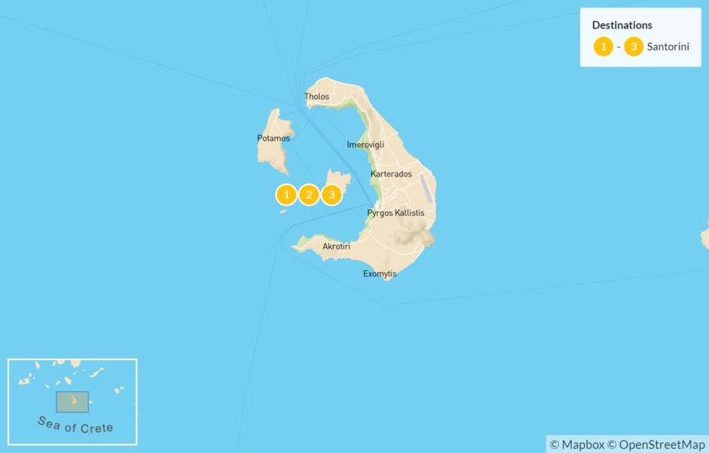Map of Discover Santorini - 4 Days