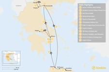 Map thumbnail of Discover Athens, Thessaloniki & Crete - 12 Days