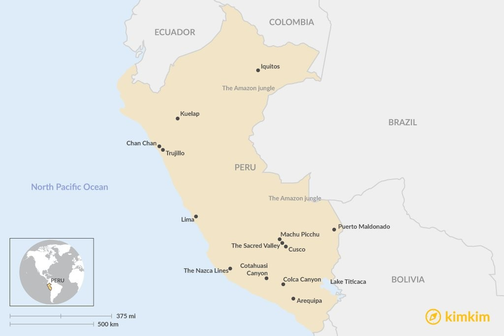 Map of Highlights of Colombia: Cities, Coast, & Colonial Highlands - 15 Days