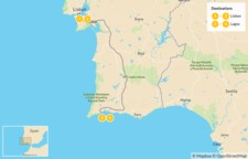 Map thumbnail of Portugal: Lisbon City & Lagos Coast - 5 Days