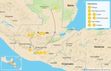 Map thumbnail of Incredible Guatemala: Antigua, Tikal,  Cobán, & Huehuetenango - 10 Days