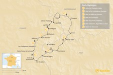 Map thumbnail of Tour du Mont-Blanc Self Guided Trek - 7 days