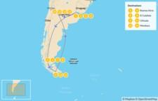 Map thumbnail of Classic Argentina: Buenos Aires, Patagonia, & Mendoza - 16 Days