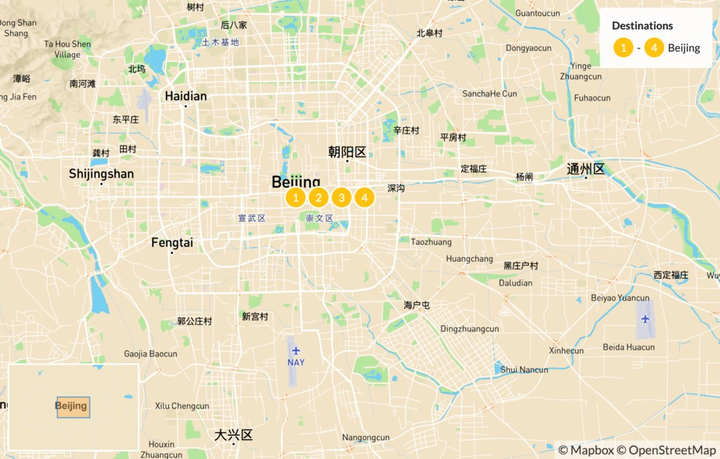 Map of Hike the Great Wall of China - 5 Days