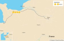 Map thumbnail of Normandy Coast Excursion - 5 Days