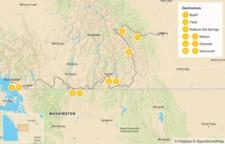Map thumbnail of Calgary to Vancouver Road Trip: Banff, Radium, Nelson, & Osoyoos - 10 Days