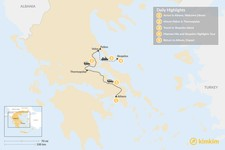 Map thumbnail of Central Greece & Skopelos Exploration - 5 Days