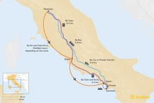 Map thumbnail of How to Get from Florence to Sorrento