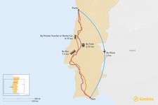 Map thumbnail of How to Get from Porto to Faro