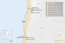 Map thumbnail of Exploring Santiago & the Atacama Desert - 7 Days