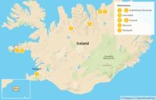 Map thumbnail of West & North Iceland Escape: Snaefellsnes Peninsula, Arctic Coast, Lake Mývatn, & More - 8 Days
