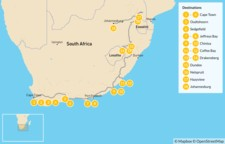 Map thumbnail of  Country of Contrasts Road Trip: Cape Town, Garden Route, Wild Coast, Kruger National Park, & More - 18 Days