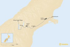 Map thumbnail of How to Get from Christchurch to Mount Cook Village