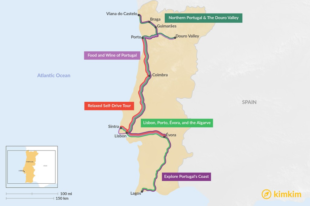 Map of 10 Days in Portugal - 5 Unique Itinerary Ideas