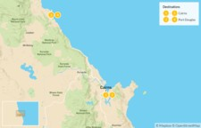 Map thumbnail of  Far North Queensland Getaway: Cairns, Port Douglas, Great Barrier Reef, & Daintree Rainforest - 5 Days