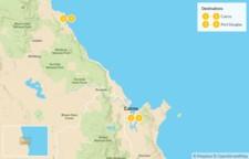 Map thumbnail of  Far North Queensland Getaway: Cairns, Port Douglas, Great Barrier Reef, & Daintree Rainforest - 5 Days