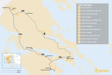 Map thumbnail of Mainland Greece Adventure Trip - 12 Days