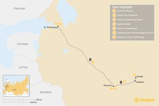 Map thumbnail of Russia's Capital Cities & Golden Ring Tour - 7 Days