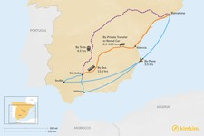 Map thumbnail of How to Get from Barcelona to Córdoba