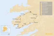 Map thumbnail of Ring of Kerry Self-Guided Hike - 8 Days