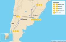 Map thumbnail of Classic Argentina: Patagonia, Mendoza, & Iguazú - 14 Days