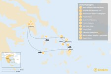 Map thumbnail of Past and Present in Athens, Tinos, Mykonos & Naxos - 11 Days