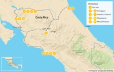 Map thumbnail of Costa Rica: Ultimate National Parks Tour - 15 Days