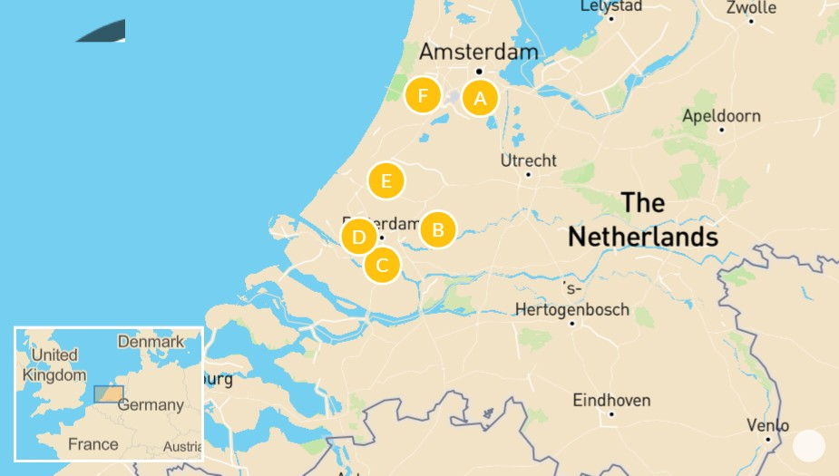 Map of Highlights of Holland - 10 Days