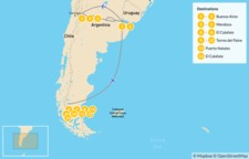 Map thumbnail of Best of Argentina & Torres del Paine - 15 Days