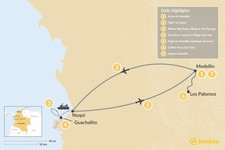 Map thumbnail of Medellín & the Pacific Coast - 7 Days
