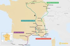 Map thumbnail of 15 Days in France - 6 Unique Itinerary Ideas