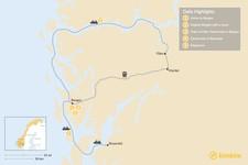 Map thumbnail of Bergen, Fläm & the Hardangerfjord - 5 Days