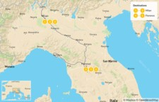 Map thumbnail of Cities and Nature in Italy: Milan, Lake Como, Florence, Cinque Terre - 7 Days