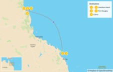 Map thumbnail of Tropical North Queensland: Hamilton Island, Port Douglas, Cairns, & More - 7 Days
