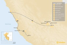 Map thumbnail of Peru's Cultural Highlights & Nazca Lines - 9 Days