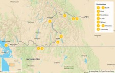 Map thumbnail of Calgary to Vancouver Road Trip: Banff, Revelstoke, Nelson, & Osoyoos - 10 Days
