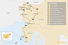Map thumbnail of Slovenia & Croatia Scenic Road Trip - 11 Days