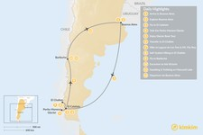 Map thumbnail of Discovering Argentine Patagonia: Buenos Aires, El Calafate, El Chaltén, Bariloche - 12 Days