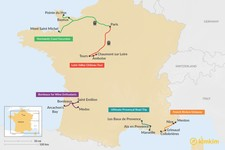 Map thumbnail of 5 Days in France - 5 Unique Itinerary Ideas