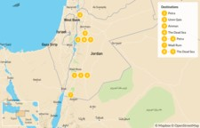 Map thumbnail of Biblical Jordan:  Amman, Petra, Wadi Rum, and the Dead Sea - 10 Days