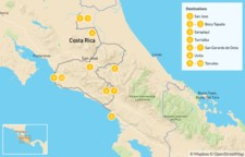 Map thumbnail of The Ultimate Costa Rican Birding Roadtrip - 11 Days