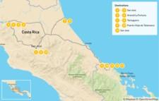 Map thumbnail of Arenal & The Caribbean Coast - 15 Days