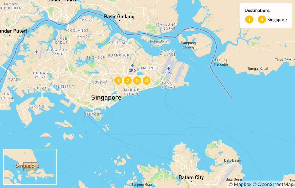 Map of Highlights of Singapore - 5 Days